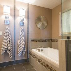 Transitional Bathroom by Johnathan Blake Interiors