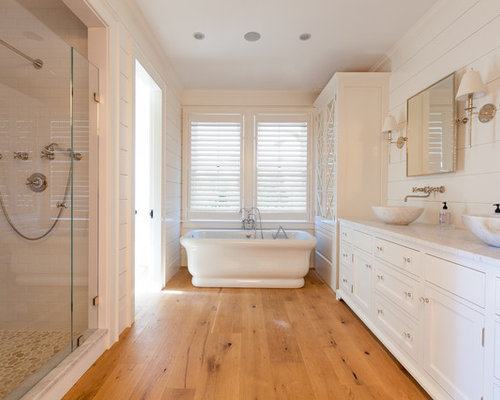 Wood flooring in bathroom houzz for Wood floor bathroom