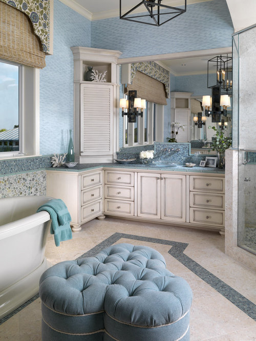 Blue And Cream Bathroom Ideas Pictures Remodel And Decor