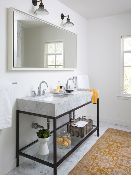 Elegant Wood Slab Vanity Design Ideas Amp Remodel Pictures  Houzz