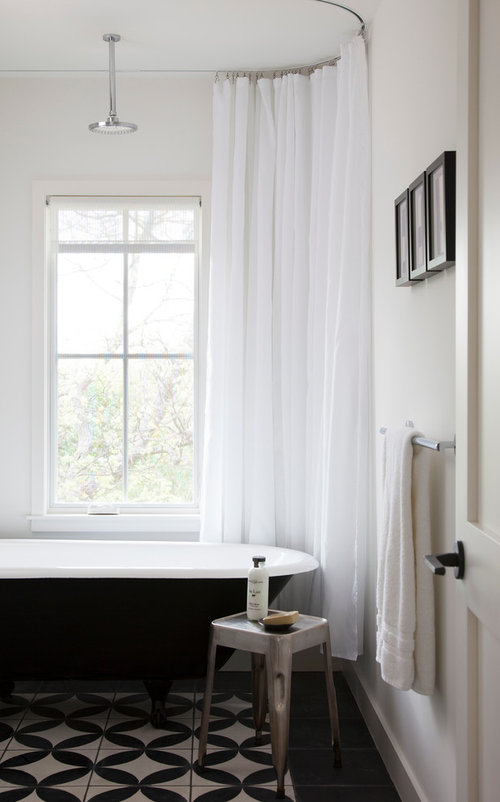 Who Makes The Recessed Shower Curtain Track So Clean And Smart