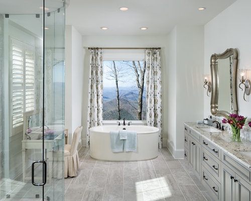 Charming Example Of A Classic Master Gray Tile And Ceramic Tile Ceramic Floor And  Gray Floor Bathroom Amazing Ideas