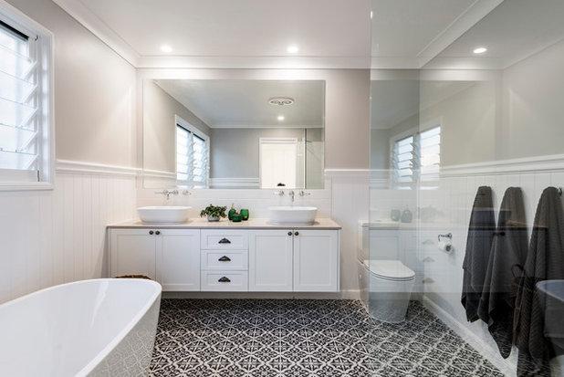 Beach Style Bathroom by Davey Constructions