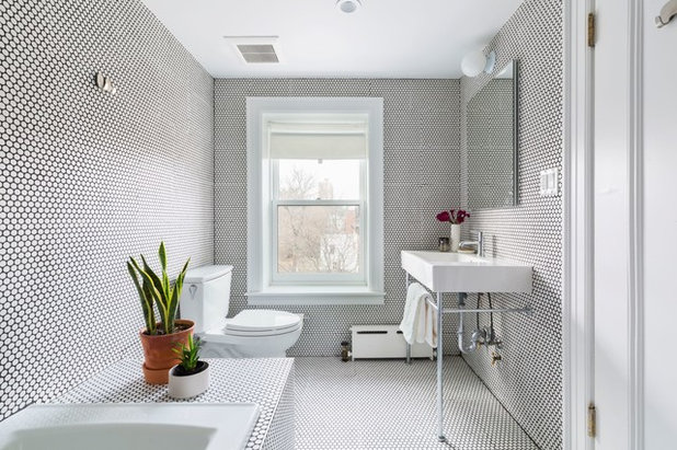 Transitional Bathroom by Urban Pioneering Architecture
