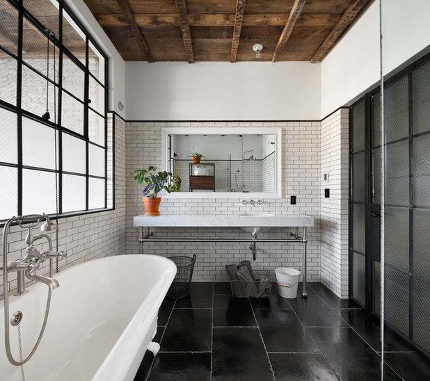Industrial Bathroom by Murdock Solon Architects