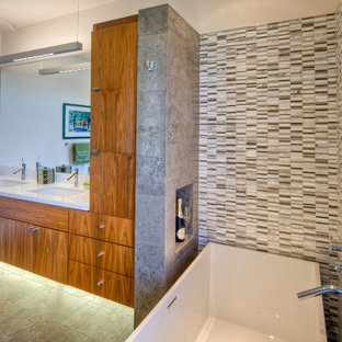Tile Modern Bathroom Ideas Houzz