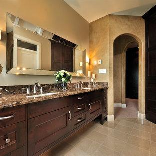 Bathroom - traditional bathroom idea in Vancouver with granite countertops and brown countertops