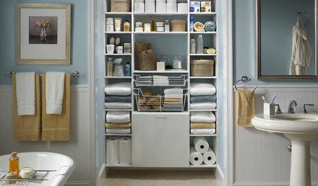 洗面所・バスルームのオープン棚を素敵に見せる収納のコツ