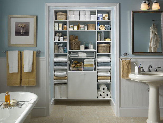 Traditional Bathroom by Capital Closets