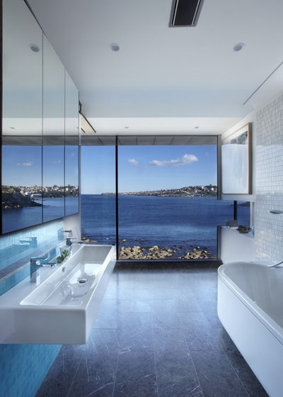Contemporary Bathroom by Rolf Ockert. Architect.