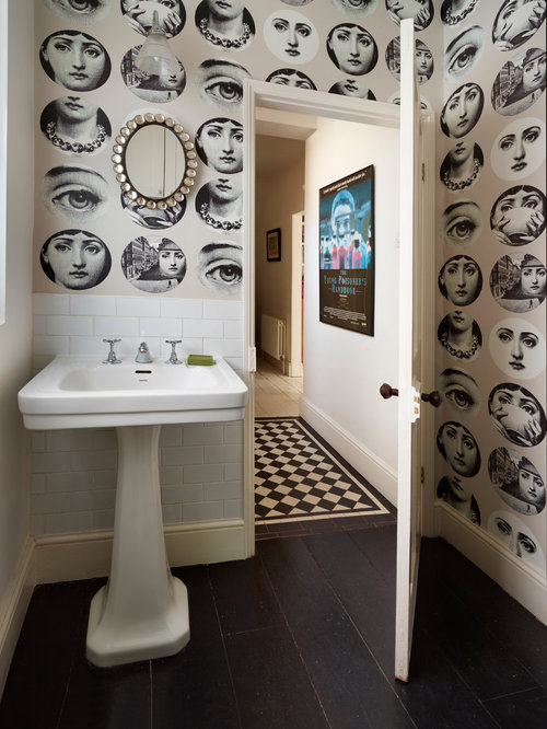 decorating with wallpaper | houzz