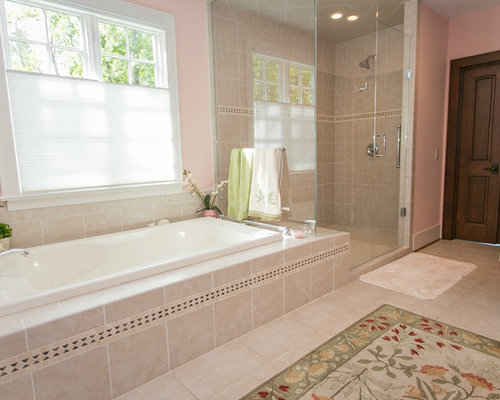 75 Trendy Cincinnati Cement Tile Floor Bathroom Design Ideas