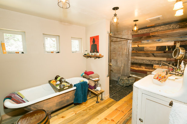 Rustic Bathroom by G Squared Design