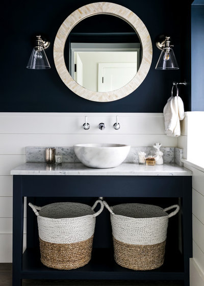 Popular Beach Style Bathroom by Lisette Voute Designs