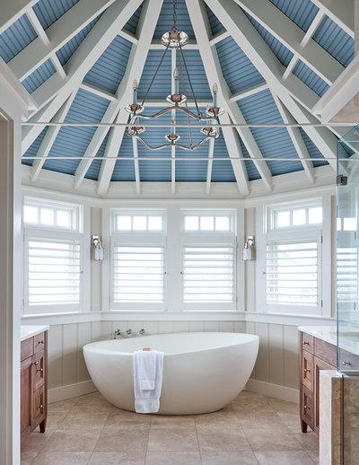 Beach Style Bathroom by Southern Studio Interior Design