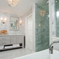Beach Style Bathroom by REFINED LLC