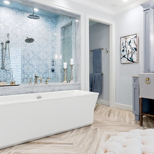 Navy Blue Grey Cream Room Bathroom Ideas Photos Houzz