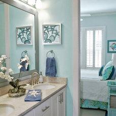 Beach Style Bathroom by Jane Roseborough Interiors