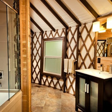 Eclectic Bathroom by Denise Mitchell Interiors