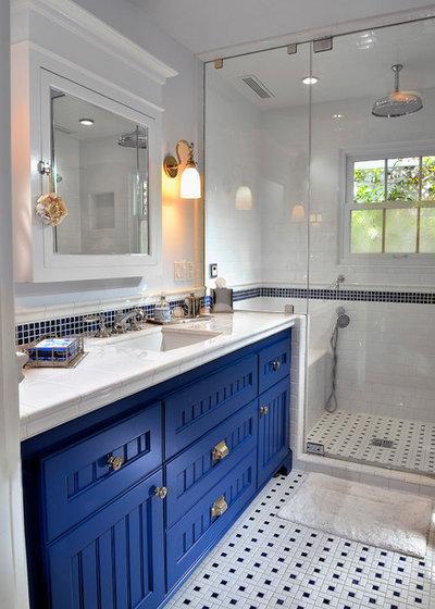 Beach Style Bathroom by Dora Brigham Interiors
