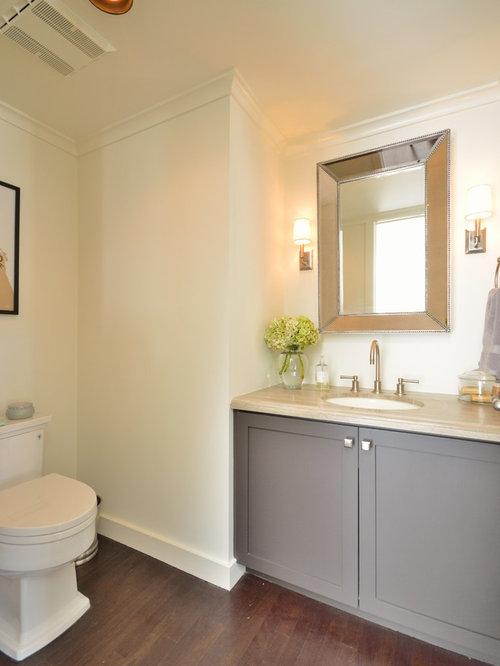 385 small bathroom design photos with dark hardwood floors