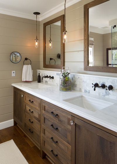 Country Bathroom by Anne Sneed Architectural Interiors