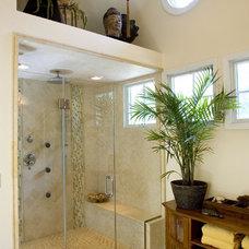 Asian Bathroom by Alan Kosa Interiors
