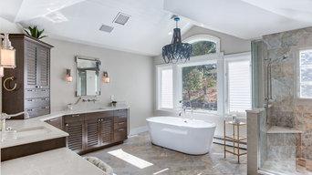 Coastal Themed Master Bath