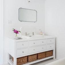 Transitional Bathroom by Bonaventura Architect