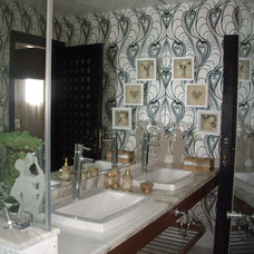 Eclectic Bathroom coca