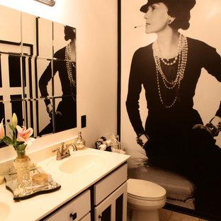 Design ideas for a contemporary bathroom in Minneapolis.