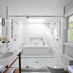 contemporary bathroom COCOCOZY: Interior design blog - Decorate, remodel, renovate, furniture, lightin