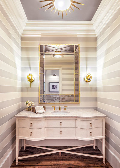 Transitional Bathroom by Anthemion Architecture LLC