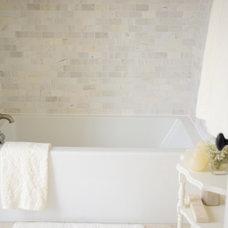Transitional Bathroom by LVZ Design