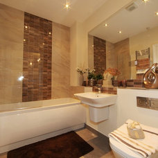 Contemporary Bathroom by Inspired Show Homes