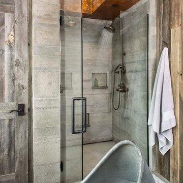 Colorado Dude Ranch Master Bathroom