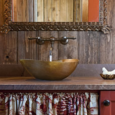 Rustic Bathroom by Bulhon Design Associates