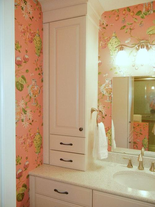 salle de bain asiatique avec un mur rose photos et id233es
