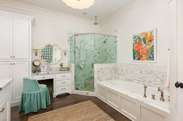 Transitional Bathroom by Colordrunk Designs