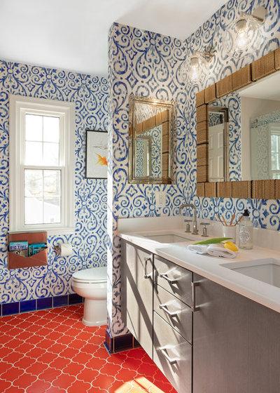 Tropical Bathroom by Maria Causey Interior Design