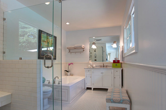 Transitional Bathroom by Stephanie Wiley Photography