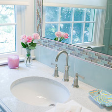Contemporary Bathroom by Nanette Baker of Interiors by Nanette, LLC