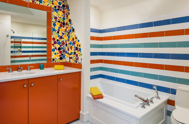 Eclectic Bathroom by Eberlein Design Consultants Ltd.