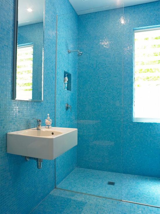 Blue Bathroom Tiles Houzz