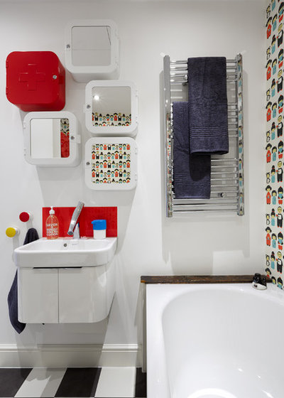 Eclectic Bathroom by Avocado Sweets Design Studio