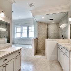 Craftsman Bathroom by JnT Homes