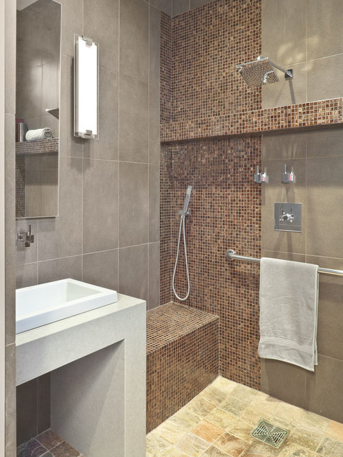 Wet room shower houzz for Wet room design ideas pictures