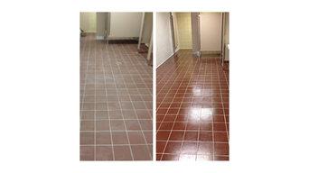 Commercial Restroom Floor Coating