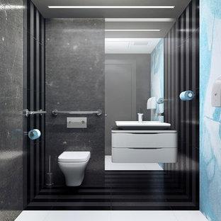 Mid-sized trendy bathroom photo in New York