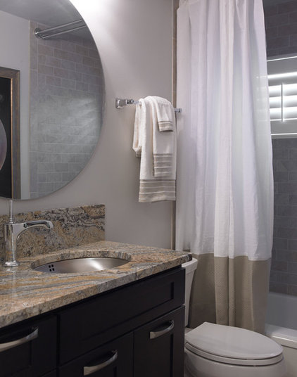 Transitional Bathroom by Marcia Moore Design